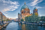 Dramatic sky with Berlin Cathedral in Berlin, Germany - 176609251