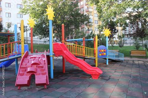 Fotobehang Amusementspark children rides