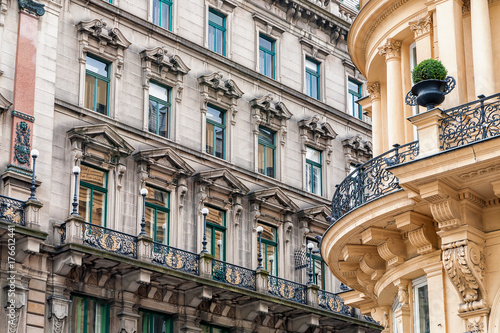 Facades of historic buildings in Vienna Poster