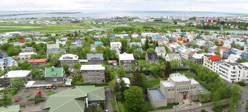 Aerial image of Reykjavik, Iceland