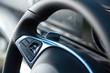 Detail shot of steering wheel