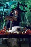Witch Is Cooking Magic Potion - 176639898