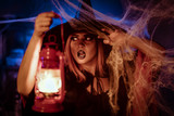 Witch With Lighted Lantern - 176640006
