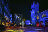 Lombardy, Como; Piazza Duomo at Christmas time. - 176645856