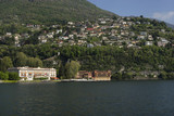 Lombardy, Lake Como; Cernobbio, GH Villa D'Este, above, the village