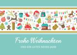 Weihnachten Karte mit Weihnachten Icons - 176649464
