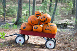 Pumpkins in a wagon - 176653225