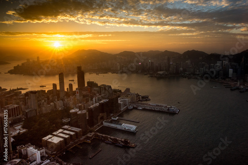 Hong Kong Sunrise Poster