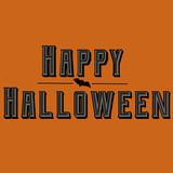 Happy Halloween Text With Bat - 176659041