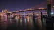 New York City timelapse at night with East River