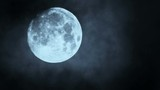 Full moon night sky. moon time lapse. moon light. clouds and moon ,beautiful nightly spooky seamless loop background - 176663441