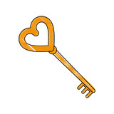 Key of love icon vector illustration graphic design - 176669014
