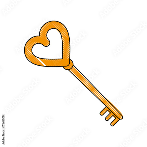 Key of love icon vector illustration graphic design