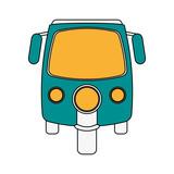 three wheel cargo motorcycle icon vector illustration graphic design - 176670626