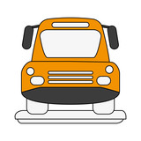 Bus front view icon vector illustration graphic design - 176671010