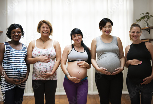 Pregnant women in a class Poster