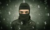 Money hungry thief. - 176684042