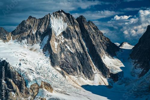 Aluminium Nachtblauw Alaska Mountain Glacier Landscape