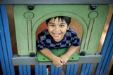 Happy boy at school playground - 176687211