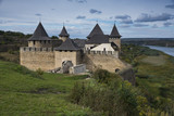 Medieval fortress in Khotyn Ukraine - 176691843