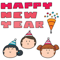 vector set of new year celebration