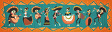 Day Of Dead Traditional Mexican Halloween Dia De Los Muertos Holiday Party Decoration Banner Invitation Flat Vector Illustration - 176694641