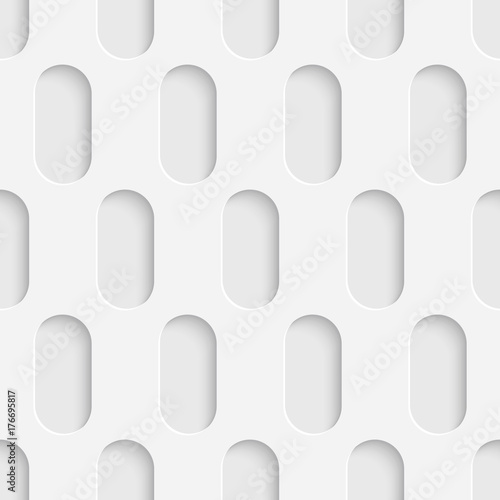 Seamless Tech Wallpaper. White Ellipse Background - 176695817