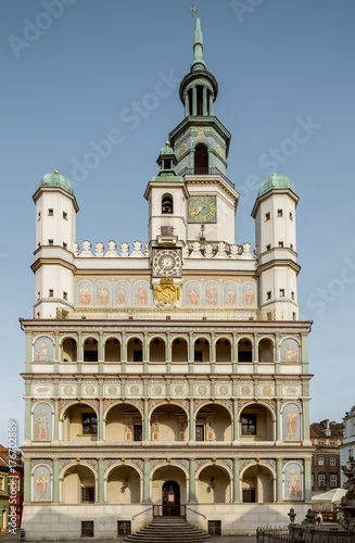 Urząd miasta w starym miasteczku Poznański, Polska