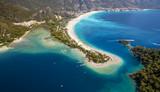 Aerial panorama of Blue Lagoon in Oludeniz, Turkey - 176703804