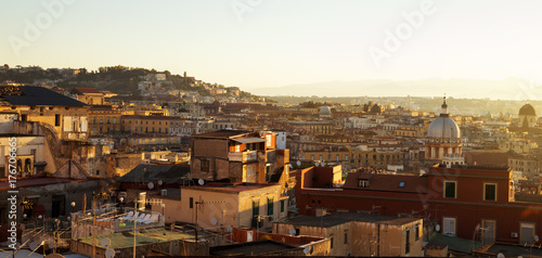 Fotobehang Napels Panorama of Naples city in Italy