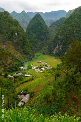 Staande foto Rijstvelden Karst mountains in Ha Giang, Vietnam