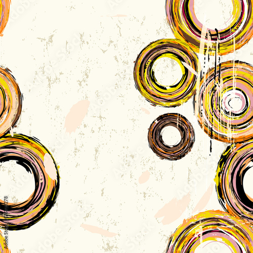 Aluminium Abstract met Penseelstreken seamless abstract background pattern, with circles, strokes and splashes