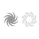 Whirpool grey set icon . - 176724847