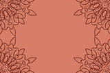 Card template with mandala border element. design with floral geometric pattern. vector illustration. brown color. - 176726076