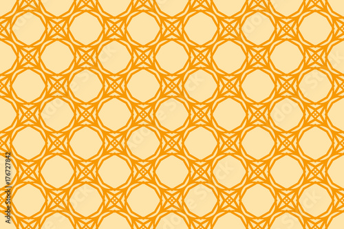 Vector seamless pattern with geometric style background. for printing on fabric, paper for scrapbooking, wallpaper, cover, page book. orange color