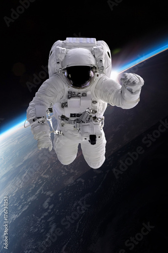 Staande foto Heelal Astronaut at spacewalk