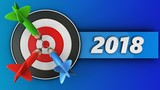 3d target with 2018 sign - 176733072