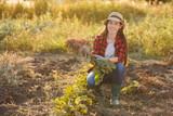 woman gardener with beet