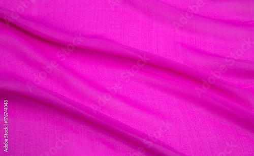 background image of a pink light fabric folded, artificial silk - 176741048
