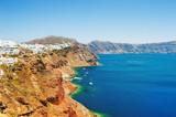 Panoramic view of Santorini island, Greece - 176745079
