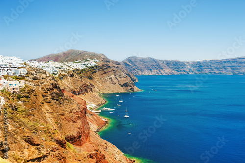 Panoramic view of Santorini island, Greece