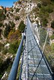 View on rope Tibetan steel bridge in mountain - 176746608