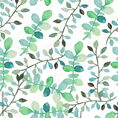 watercolor seamless pattern © Chantal