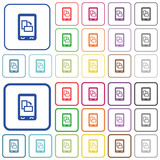 Change mobile display orientation outlined flat color icons - 176750830