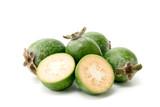 Feijoa fruit closeup on white - 176754233
