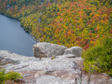 Cliff over Lower Ausable Lake in Adirondacks - 176756402