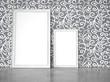 2 Rahmen vor Wand mit kreativer Tapete - 176759680