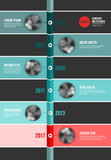 Vector teal and red  Infographic Company Timeline Template - 176760284