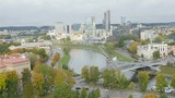 Timelapse View Over the Vilnius City Area in Autumn - 176765830