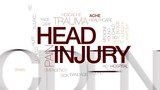 Head injury animated word cloud, text design animation. Kinetic typography. - 176767627